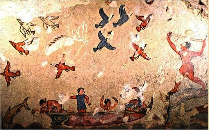 the tomb of hunting and fishing tarquinia