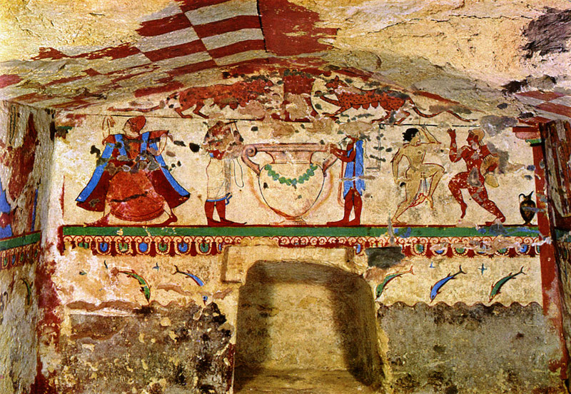 tomb of the lionesses Tarquinia
