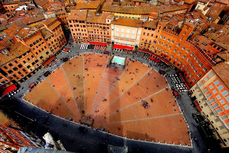 Siena Piazza del Campo the square of palio