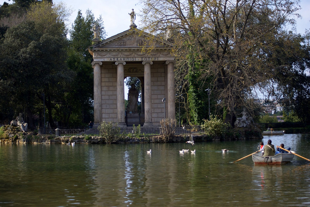 Villa Borghese Gardens, the most popular park in Rome